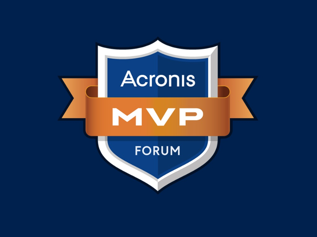 Acronis Forum MVP Logo